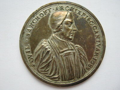 1688 Archbishop Sancroft and the Bishops medal silver 51mm Eimer 288b