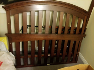 Matching crib and dresser set