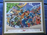 Signed & Framed Limited Edition Avengers Print.