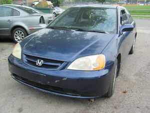2001 Honda Civic 2door ,Auto ,L0aded 133,000,Safety and e test