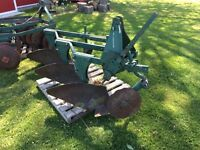 3pt hitch  disks and 3 furrow plow