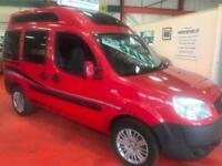 FIAT DOBLO 2 BERTH DIESEL CAMPER VAN 49073 MILES METALLIC FLAME RED