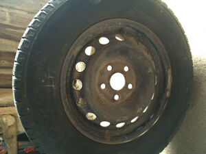 Winter Tires on rims (off a Honda Odyssey) Stratford Kitchener Area image 1