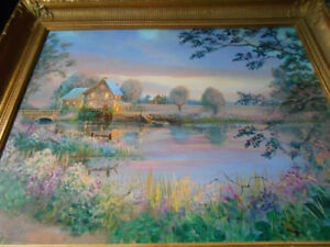 ORIGINAL PAINTING OF MISTY DAWN BY PETER ROBSON