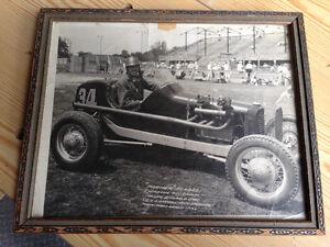 """VINTAGE 1941  """"FARMER"""" FORBES  WINDSOR RACING PHOTOGRAPH FRAMED"""
