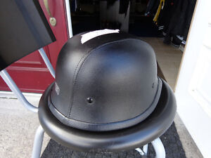 Black leather clad helmet in xx-large    recycledgear.ca Kawartha Lakes Peterborough Area image 5