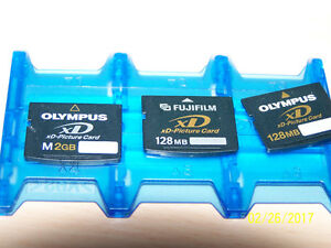 1 Fuji film and 2 Olympus  XD Picture Cards for Sale!!