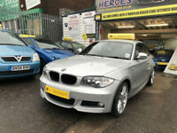 2010 BMW 120i M SPORT SILVER 2.0 170 COUPE 10,000 MILES (AA) WARRANTED INCLUDED