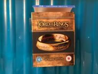 Lord of the Rings blu Ray Extended edition as new