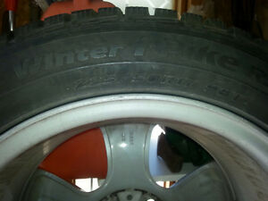 BMW mags with winter tires 225/50R17 Gatineau Ottawa / Gatineau Area image 2