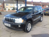 2006,Jeep Grand Cherokee 3.0 CRD auto Limited,97,000 MILES,GOOD SERVICE HISTORY