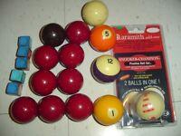 SNOOKERTRAINING CUE BALL / 8BALL BILLIARD POOL BALLS AND CHALK
