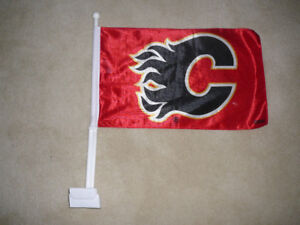 Calgary Flames Vehicle Flag - Larger Size PRICE REDUCED