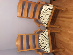Two Broyhill armchairs