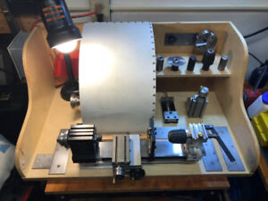 TAIG Metal Lathe with Milling Attachment