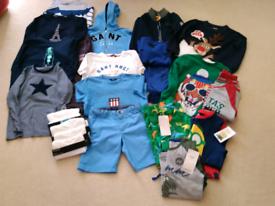 Boys Designer Clothes Bundle. Gant,Regatta,M&S etc Age 5-6years. 18 It