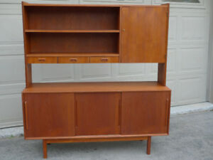 Teak Mid Century Buffet and Hutch
