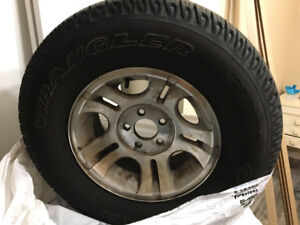 Goodyear Wrangler tires with rims 235/75/15