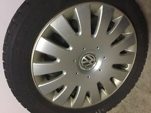 "Attn Volkswagon Drivers: 4 16"" snowtires with rims and VW hubcap St. John's Newfoundland image 5"