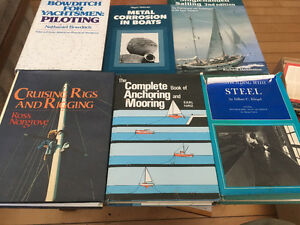 6 hard cover Books on Boating, Sailing & Boat Building