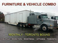 REGULAR TRIPS TO TORONTO WITH OUR CARGO/VEHICLE TRANSPORTER