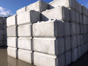 Concrete barrier + retaining wall blocks delivered to your site