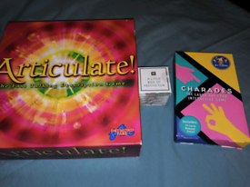 Articulate, charades and Xmas game