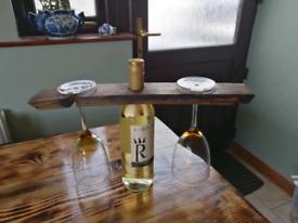 Wine bottle/glass holder