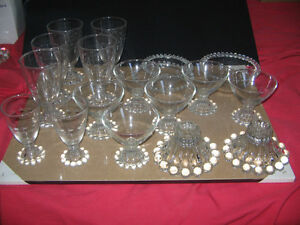 VINTAGE CANDLEWICK GLASSWARE AN ASSORTMENT OF 18 PIECES