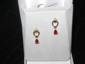 14 k gold Ruby earrings