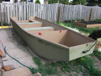 Wood Fishing Boat with Motor $750 OBO