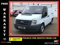 2011 Ford Transit 2.2 ECOnetic 280 S,Low Roof Panel Van,115 BHP, ( SWB, 260 300