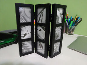 black Umbra 3 panel, 9 photo frame