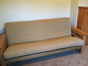 Futon frame, mattress & cover ~ Excellent condition