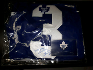 Signed Dion Phaneuf Maple Leafs Jersey