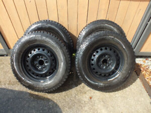 16in. Winter Tires with Steel Rims