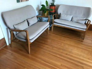 Sofa / couch love-seat - EXCELLENT CONDITION - $175.00 each