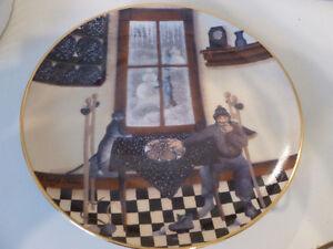 "Collector plate ""Kitchen Visitors"" -artist  Carol Endres"