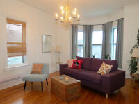 Furnished heritage flat available Oct 15th