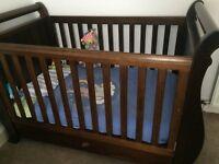 Boori Sleigh Cot Bed Including Mattress