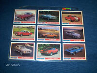 SET OF 9 VINTAGE MUSTANG CARDS-SHELBY-MACH 1-BOSS 302+