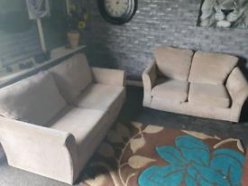 🔥light brown cordid dfs®️ fabric 3 seater & 2 seater sofa set 🔥