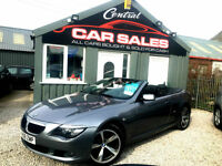 2008 BMW 630I 3.0I AUTO/TIPT SPORT CONVERTIBLE FINANCE & PARTX ARRANGED