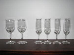 flûtes a champagne et vin