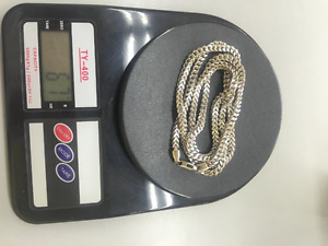 White Gold Franco Chains 67g for Sale