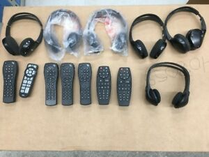 LOT of wireless Headsets and Remotes for GM rear DVD systems