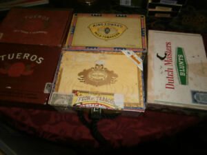 Five Old Cigar Boxes