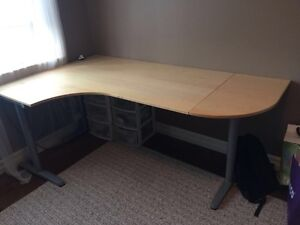 IKEA GALANT CORNER DESK with Extension -- 275 $ OBO
