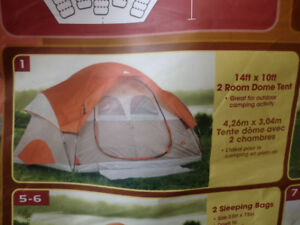 6 person tent, OZARK trail 6 person trail tent ( 14 by 10 feet)