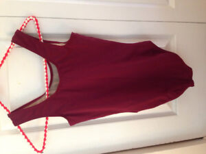 Maritime Dance burgundy bodysuit size girls 14/ ladies XS